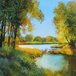 Fish Creek Original Painting by Artists On Tour Artist Andrew Kiss