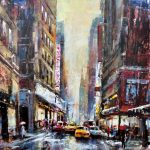 Urban Reflections Original Acrylic painting by Canadian artist Brent Heighton