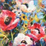 Garden Delight original acrylic on canvas by Canadian artists Brent Heighton