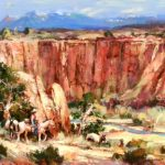 Along The Canyon Rim Original Acrylic painting by Canadian artist Brent Heighton