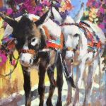 Dos Amigos Original Acrylic painting by Canadian artist Brent Heighton