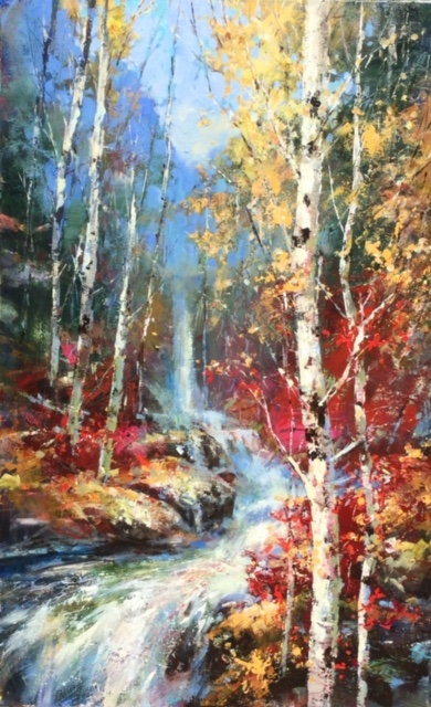 Artists On Tour artist original painting by Canadian Visual artist Brent Heighton