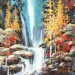 Cascadia Original Acrylic painting by Canadian artist Brent Heighton