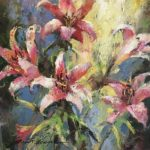 Lillies Original Acrylic painting by Canadian artist Brent Heighton