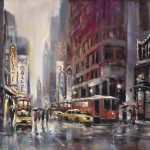 Showtime Original Acrylic painting by Canadian artist Brent Heighton