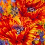 Original Acrylic Floral painting by Artist on Tour Artist Debra Martin