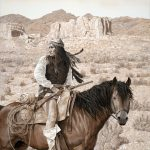 Geronimo original acrylic painting by Canadian artist Darren Haley