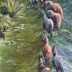 Follow The Leader Original Oil painting by Canadian artists Diane M Anderson