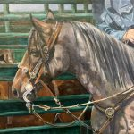 Bejeweled - Roan Horse original oil painting by Canadian artist Diane M Anderson