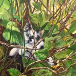 Hide And Seek original oil painting by Canadian artist Diane M Anderson
