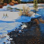February In Canmore Original Painting by Artists On Tour Artist Andrew Kiss