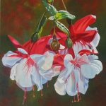 Fuchsia Original Painting by Artists On Tour Artist Andrew Kiss