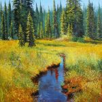 Meadows Revelstoke Original Painting by Artists On Tour Artist Andrew Kiss