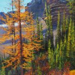 Mt. Lefroy Original Painting by Artists On Tour Artist Andrew Kiss