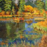Policemans Creek Canmore Original Painting by Artists On Tour Artist Andrew Kiss
