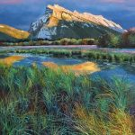 Sunset On Rundle Original Painting by Artists On Tour Artist Andrew Kiss
