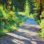 Trail To Boom Lake Original Painting by Artists On Tour Artist Andrew Kiss
