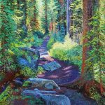 Trail To Boom Lake 3 Original Painting by Artists On Tour Artist Andrew Kiss