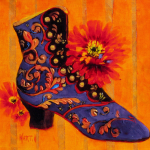 Original Acrylic Boot Series Painting by Artist On Tour artist Debra Martin