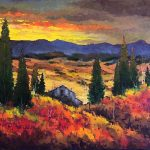 Alberta Foothills original oil painting by Canadian artist Neil Patterson