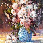 Dreaming of Daisies original oil painting by Canadian artist Neil Patterson