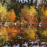 Fall Reflections original oil painting by Canadian artist Neil Patterson