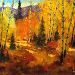 In The Clearing original oil painting by Canadian artist Neil Patterson