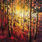 Light In The Trees original oil painting by Canadian artist Neil Patterson