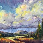 Spring Rain original oil painting by Canadian artist Neil Patterson
