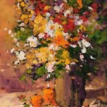 Summer Flowers original oil painting by Canadian artist Neil Patterson