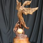 Transformation bronze by Canadian artist Diane M Anderson