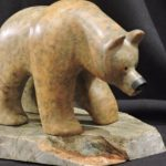 View From Higher Ground soapstone carving by Canadian artist Vance Theoret