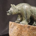 Up to the Edge soapstone carving by Canadian artist Vance Theoret
