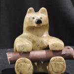 Good Wood soapstone carving by Canadian artist Vance Theoret