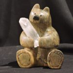 The Crystal Wand soapstone carving by Canadian artist Vance Theoret