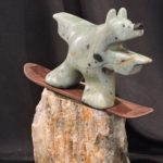 Powder Bound Soapstone Carving by Canadian artist Vance Theoret