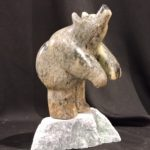 Ready To Jump In soapstone carving by Canadian artist Vance Theoret