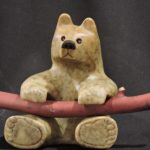 Of Sticks and Stones soapstone carving by Canadian artist Vance Theoret