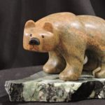 Rough & Ready Eddie soapstone carving by Canadian artist Vance Theoret