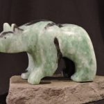 In the Mood For Food soapstone carving by Canadian artist Vance Theoret