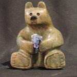 Blueberries Galore soapstone carving by Canadian artist Vance Theoret