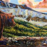 Emerging Toward Banded Peak original painting by Canadian artist David Zimmerman