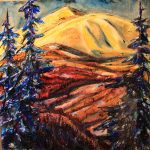 Moose Mountain original painting by Canadian artist David Zimmerman