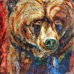 Original Bear painting by Artist David Zimmerman