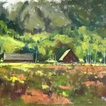 At The Cottonwood original oil painting by Canadian artist Neil Patterson