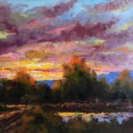 Evening Light original oil on board painting by Canadian artist Neil Patterson