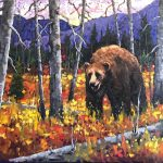 Foothills Grizzly original oil painting by Canadian artist Neil Patterson