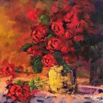 Study In Red Original Oil painting by Canadian artist Neil Patterson
