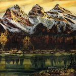 Three Sisters original painting by Canadian artist David Zimmerman